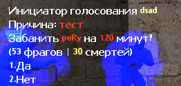 Voteban для сервера CS 1...